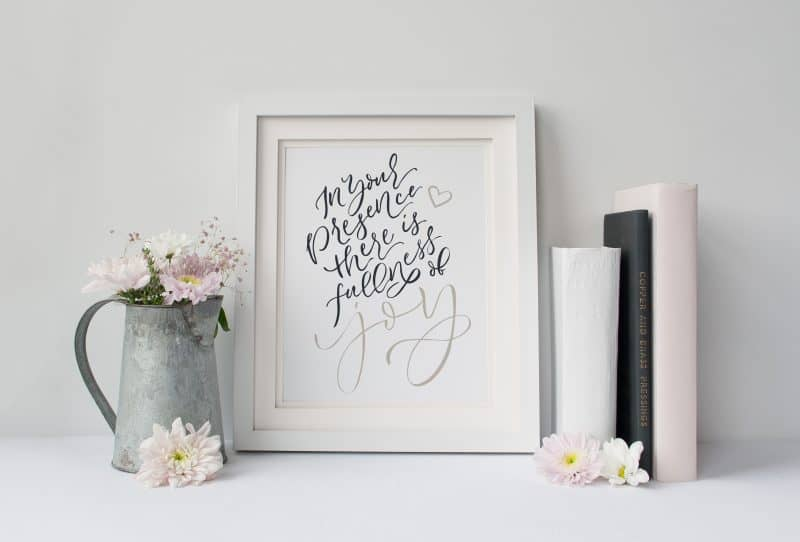 In Your Presence Art Print Navy Tan