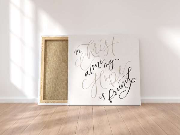 In Christ Alone Canvas