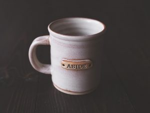 ABIDE Mug | Blush and Cream | The Joyful Life | Limited Edition