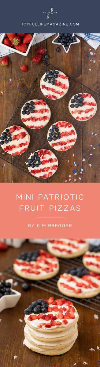 Patriotic Mini Fruit Pizzas | by Kim Bregger | The Joyful Life Magazine