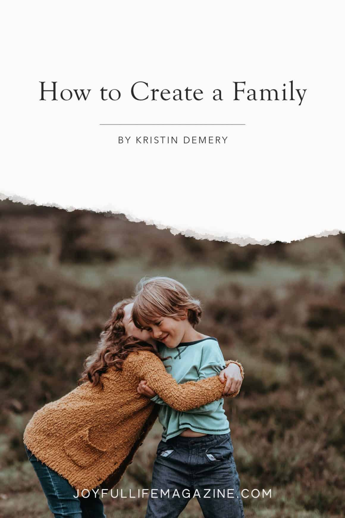 Appreciating Your Family: How to Create a Family Appreciation Day | two kids hugging
