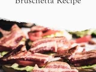 tomato bacon bruchetta bread
