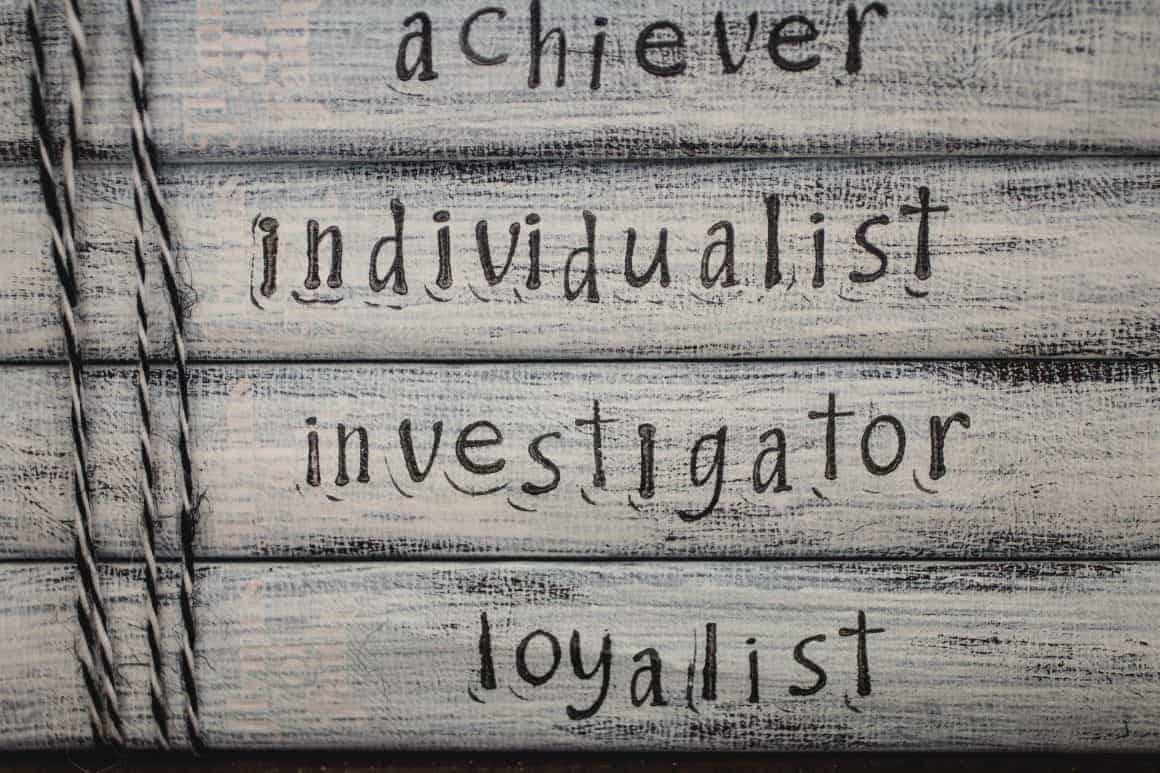 enneagram types book stack achiever individualist investigator loyalist