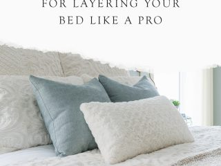 beautifully styled bed