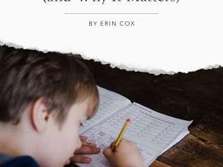 homeschool boy writing on paper