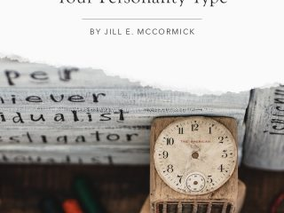 stack of books with enneagram types and toys